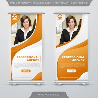 Roll up stand banner template
