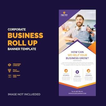 Rollup biznesu korporacyjnego x baner projekt premium wektor