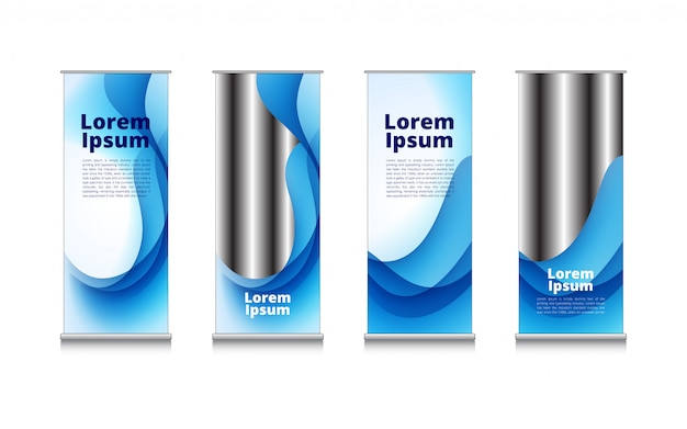 Rollup błękitna biała fala wody abstrakta tło