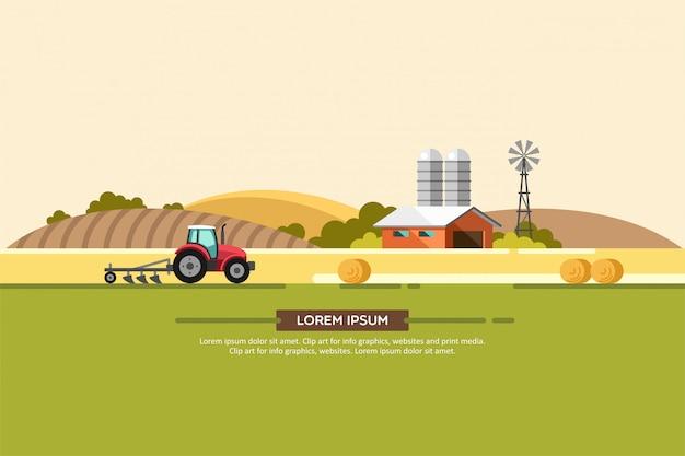 Rolnictwo i rolnictwo. agrobiznes. wiejski krajobraz.