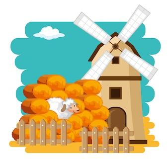 Rolnictwo i rolnictwo koncepcja bele siana