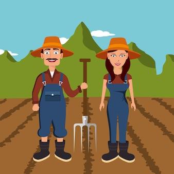 Rolnicy na uprawach