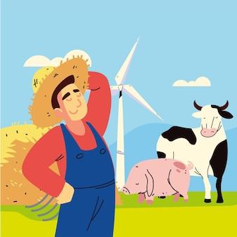 Rolnik i zwierzęta