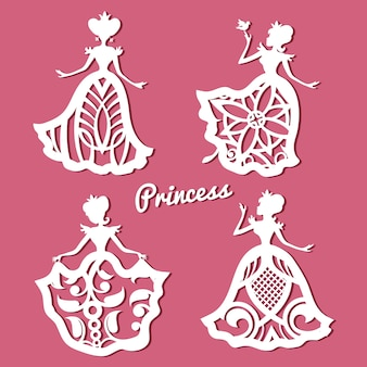 Romantyczna księżniczka w koronkowych sukniach ślubnych z rzeźbionym wzorem