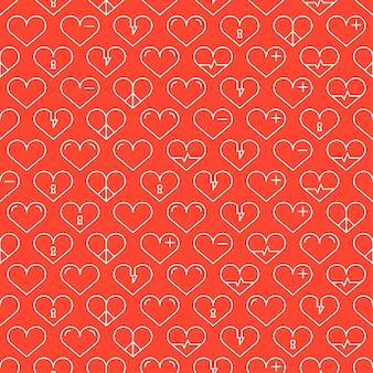 Romantyczna linia szwu z serca