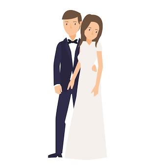 Romantyczna poza młode małżeństwo