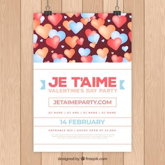 Romantyczna ulotka valentine