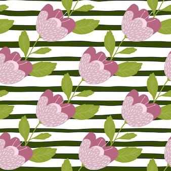 Romantyczne kwiaty wzór na tle pasek. tekstura rocznika botanika.