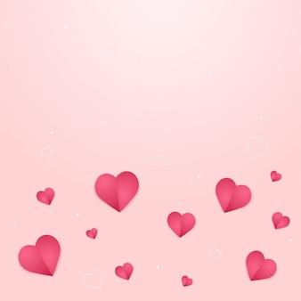 Romantyczne tło z różowymi sercami