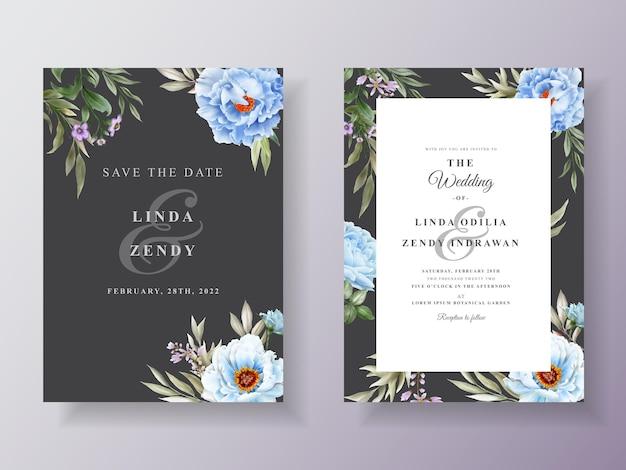Romantyczne zaproszenie na ślub kwiatowy