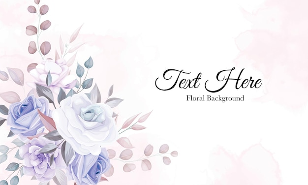 Romantyczny kwiat tło z fioletową dekoracją kwiatową
