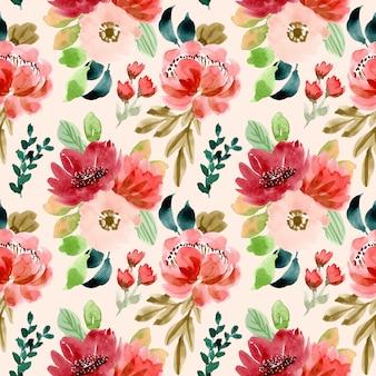 Romantyczny kwiatowy akwarela bezszwowe wzór