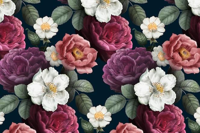 Romantyczny kwiatowy tło