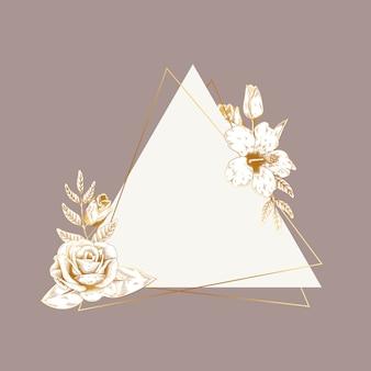 Romantyczny kwiatowy znaczek
