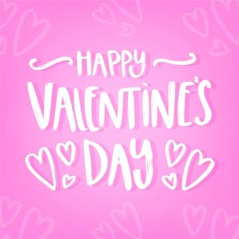 Romantyczny szczęśliwy walentynki napis