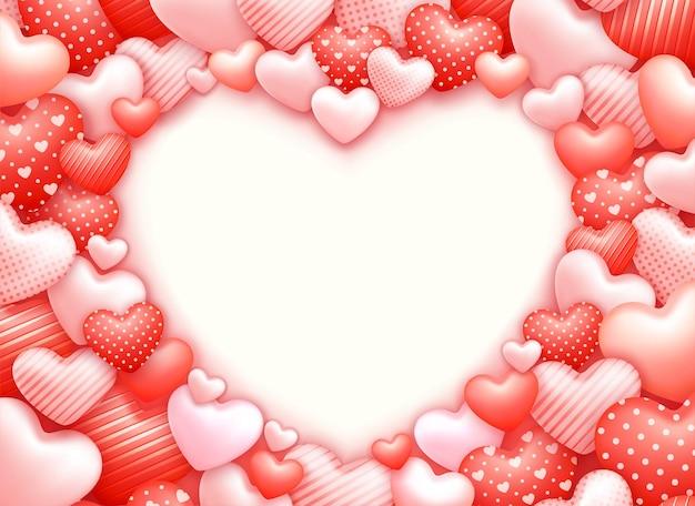 Romantyczny tło z serca i miejsca na kopię