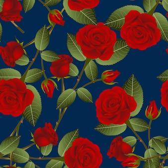 Rosa na niebieskim tle indygo
