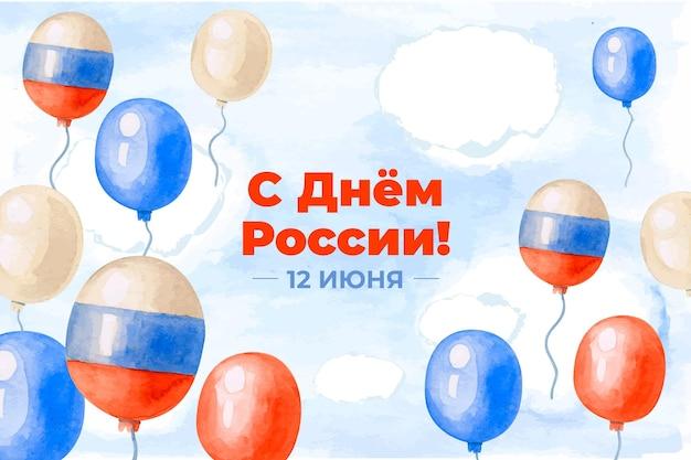 Rosja dnia tło z balonami