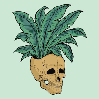 Roślina i czaszka