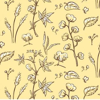 Roślinne bawełna wzór