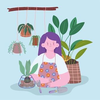 Rośliny dbają o kobietę
