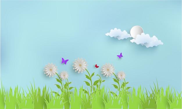 Rośliny i trawa wiosną