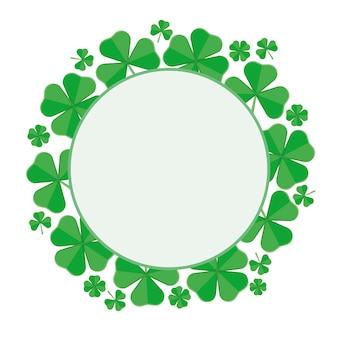 Round luck frame of leaf koniczyny