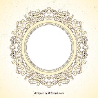 Round ramka w stylu ozdobnych