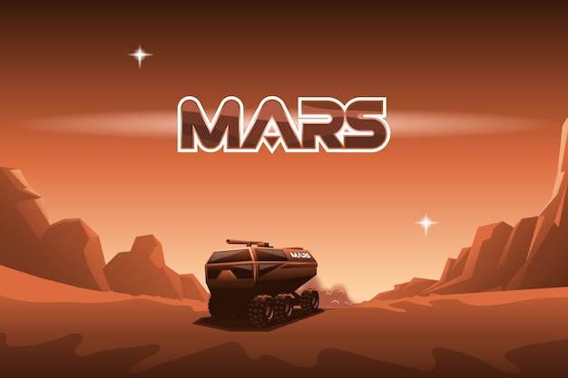 Rover jeździ na marsie.