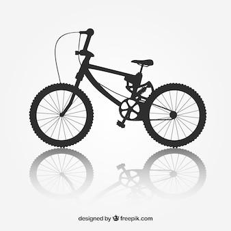 Rower bmx rower sylwetka wektor