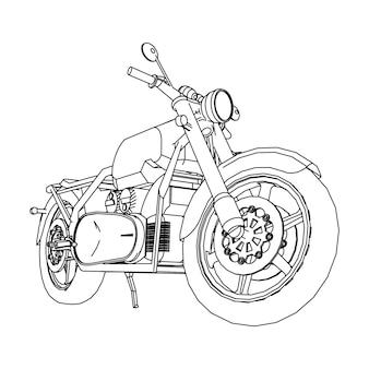 Rower szosowy motocykl w konturach sylwetka motocykla