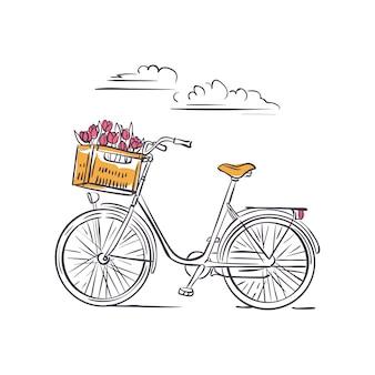 Rower w amsterdamie na białym tle