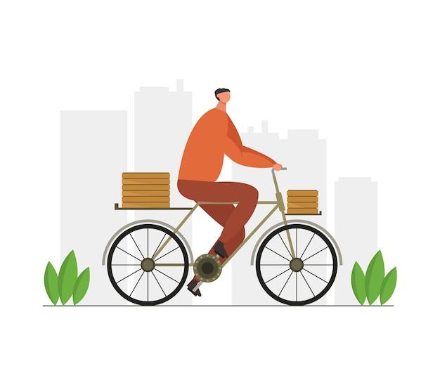 Rower z dostawą żywności