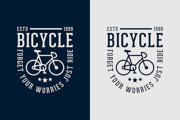 Rower zapomnij o zmartwieniach po prostu jedź zacytuj slogan vintage stary styl rowerowy projekt koszulki rowerowej