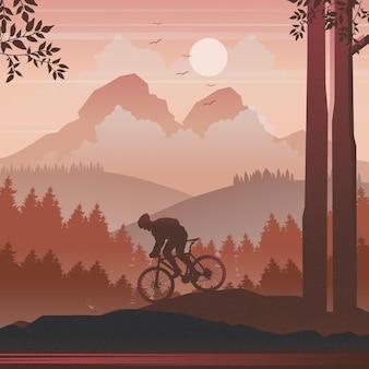 Rowerzysta górski