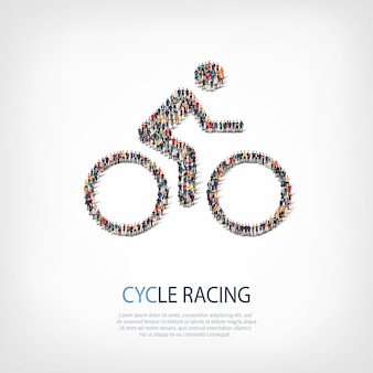 Rowerzysta ikona ilustracja