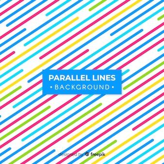 Równoległe linie tła