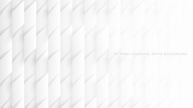 Równoległoboki 3d proste białe tło