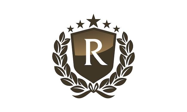 Royal vip shield leaf initial r