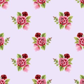 Róża bukiet kwiatowy ornament wzór