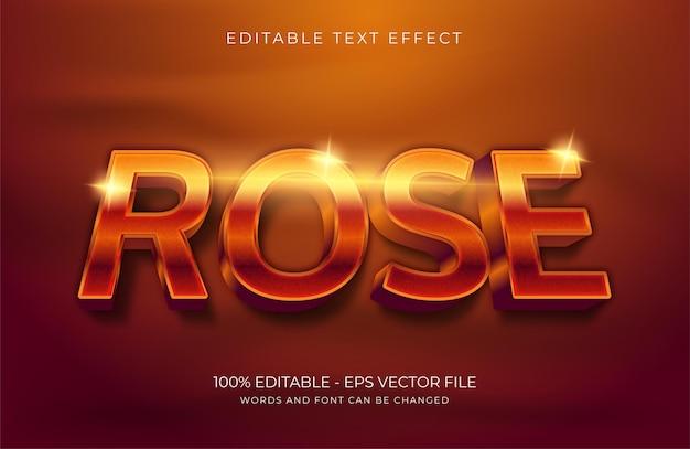 Róża edytowalny efekt tekstowy premium wektorów