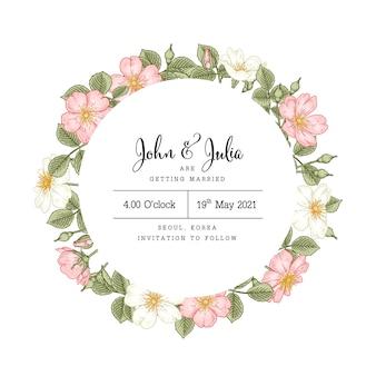 Róża psa rysunki kwiatów rosa canina