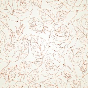 Różany bezszwowy tło