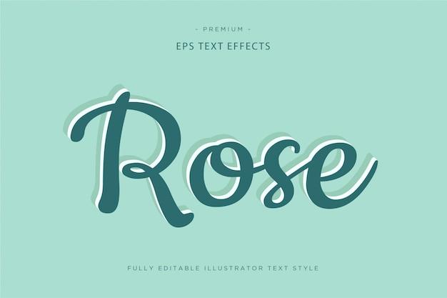 Różany efekt tekstowy 3d