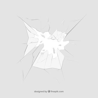 Rozbite szkło tło w realistyczny styl