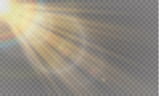Rozbłysk słoneczny przezroczysty specjalny efekt świetlny.