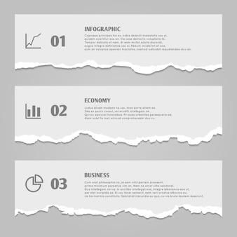Rozdarty arkuszy papieru z numerami