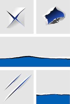 Rozdarty papier z dziurami