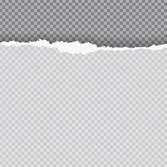 Rozdarty papier z rozerwaną krawędzią. ulotka, plakat, szablon karty z miejscem na tekst. element graficzny do dekoracji notatnika, strony reklamowej, tapety. grunge cięcia kawałek papieru. ilustracja wektorowa