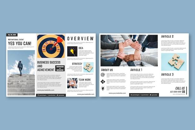 Rozdawać broszurę szablonu koncepcji